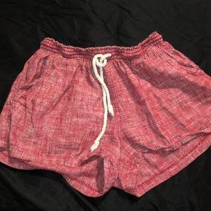 Red Flowy Shorts